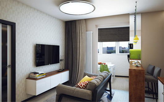 Дизайн кухни с диваном 11 кв.м